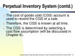 perpetual inventory system contd