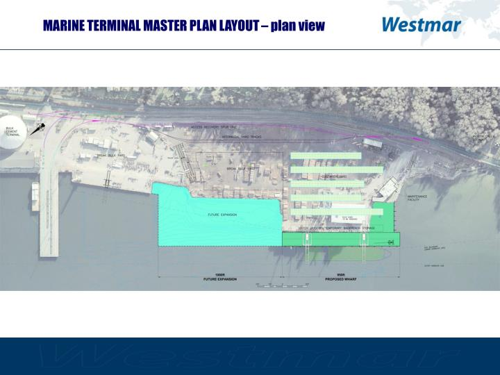 MARINE TERMINAL MASTER PLAN LAYOUT – plan view