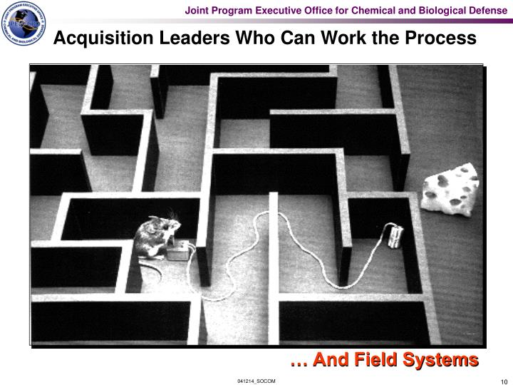 Acquisition Leaders Who Can Work the Process
