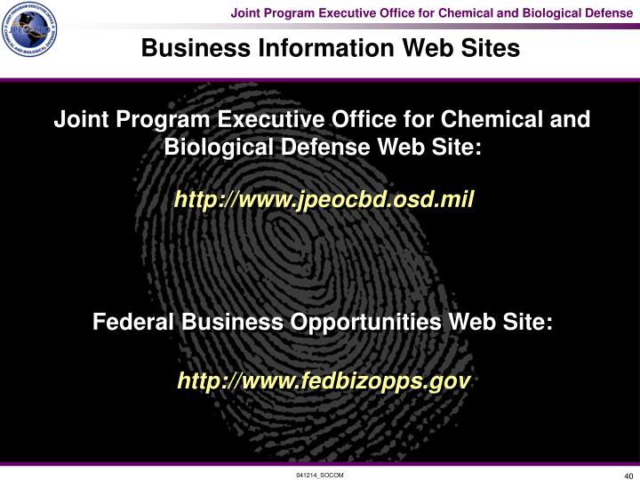 Business Information Web Sites
