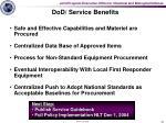 dod service benefits