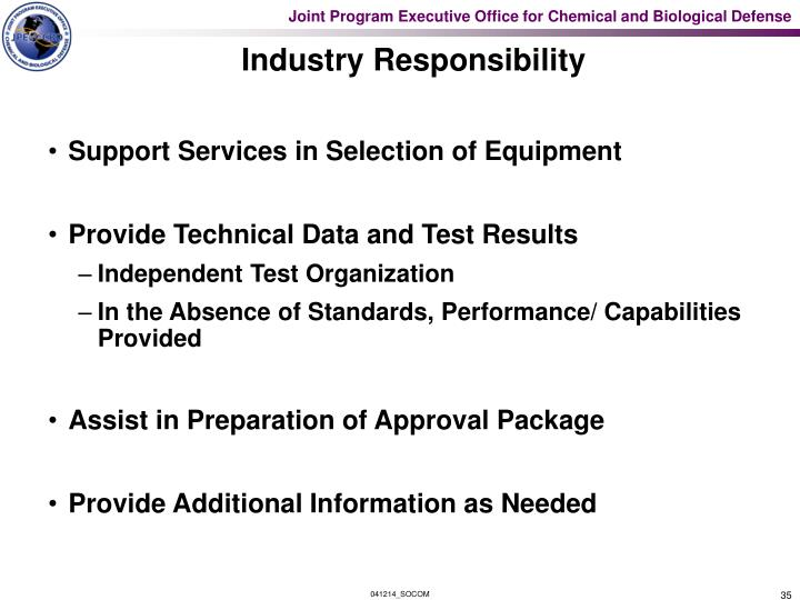 Industry Responsibility