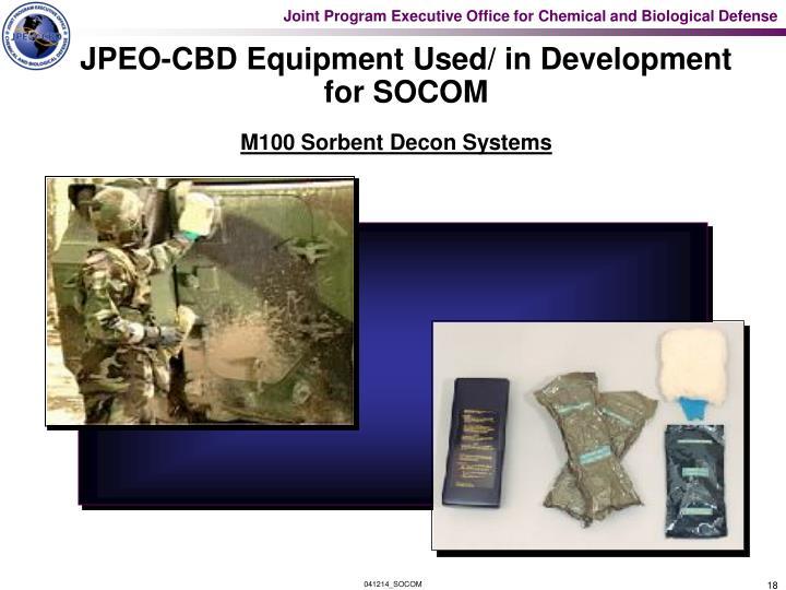 JPEO-CBD Equipment Used/ in Development