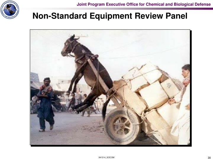 Non-Standard Equipment Review Panel