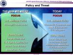 policy and threat