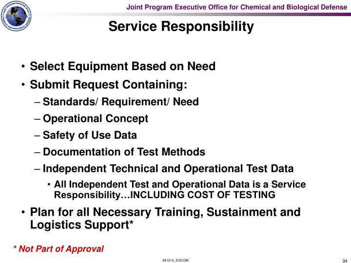 Service Responsibility