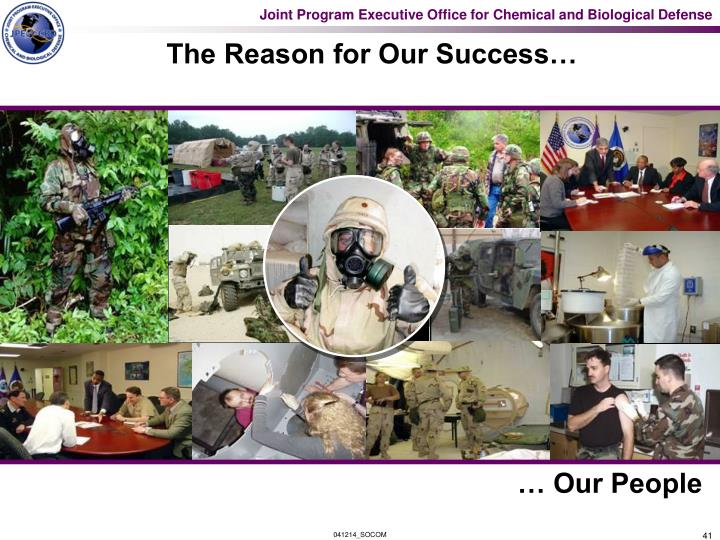 The Reason for Our Success…