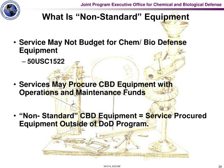 """What Is """"Non-Standard"""" Equipment"""