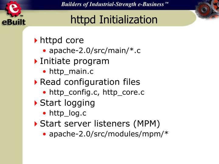 httpd Initialization