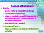 causes of variations1