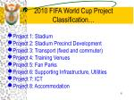 2010 fifa world cup project classification