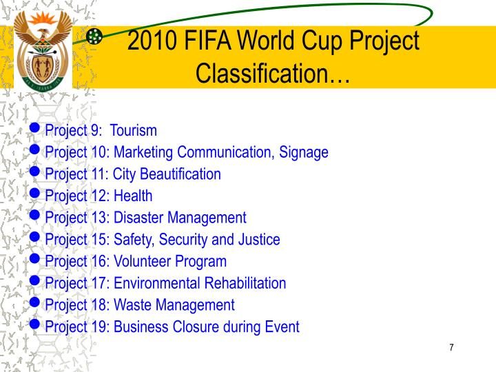 2010 FIFA World Cup Project Classification…