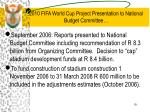 2010 fifa world cup project presentation to national budget committee