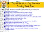 2010 fifa world cup stadiums funding work plan