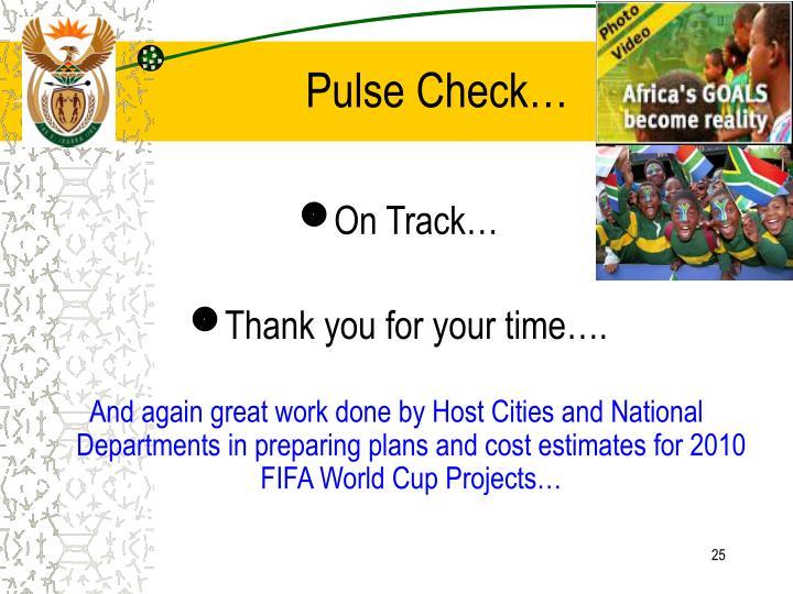 Pulse Check…