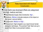 risks associated with stadium construction