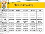 stadium allocations