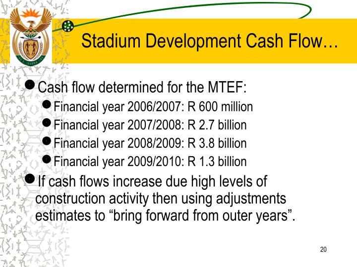 Stadium Development Cash Flow…