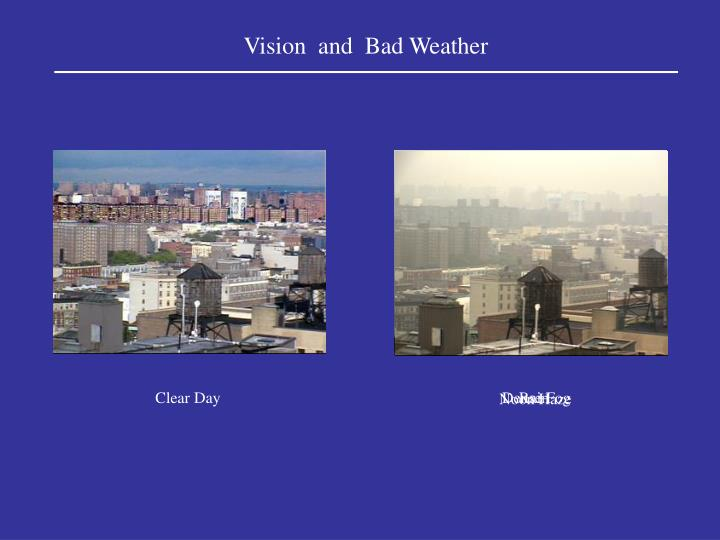 Vision and bad weather