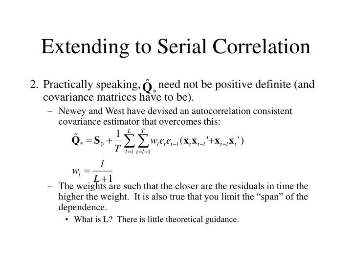 Extending to Serial Correlation