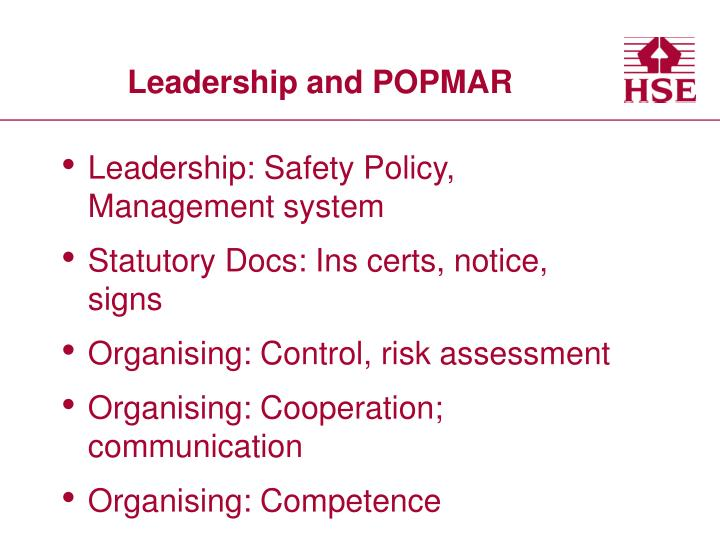 Leadership and POPMAR