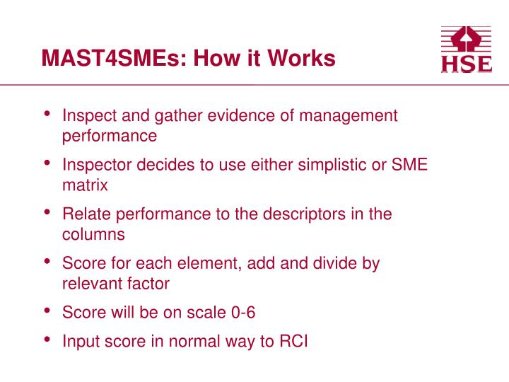 MAST4SMEs: How it Works