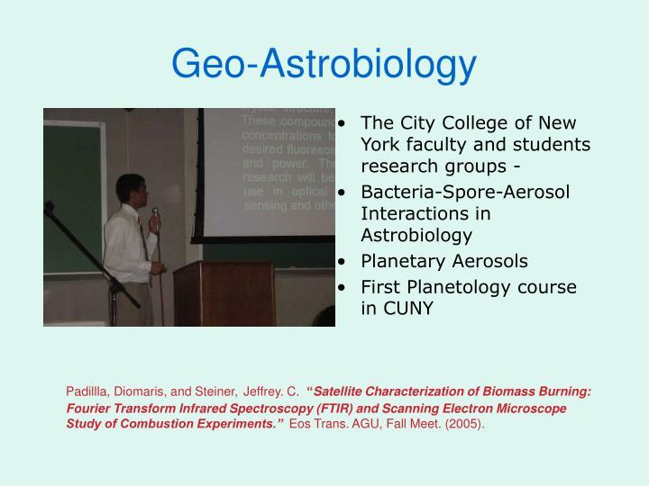 Geo-Astrobiology