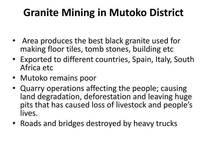 Granite Mining in Mutoko District