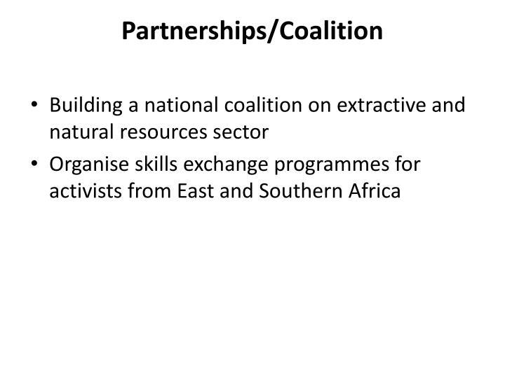 Partnerships/Coalition