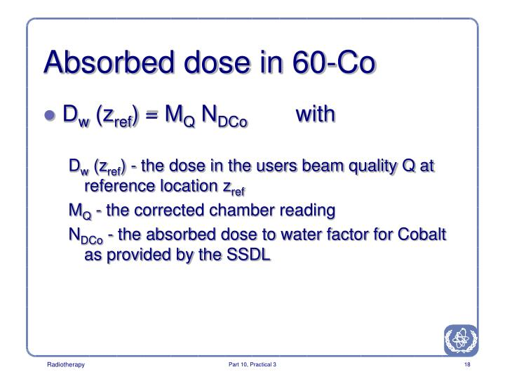 Absorbed dose in 60-Co