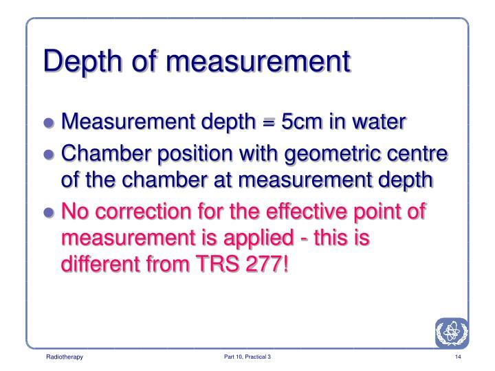 Depth of measurement