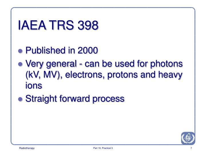 IAEA TRS 398