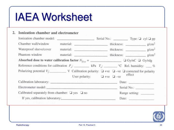 IAEA Worksheet