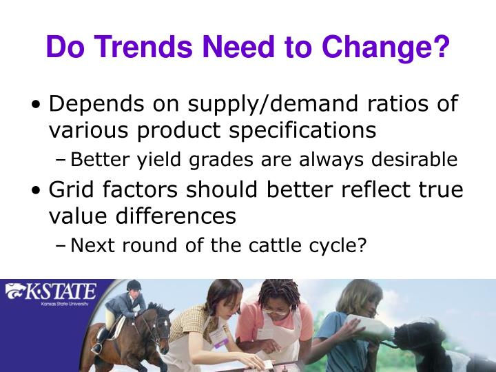 Do Trends Need to Change?