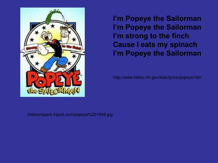 I'm Popeye the Sailorman