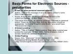 basic forms for electronic sources peculiarities