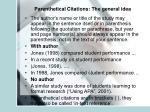 parenthetical citations the general idea