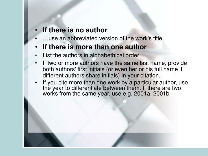 If there is no author