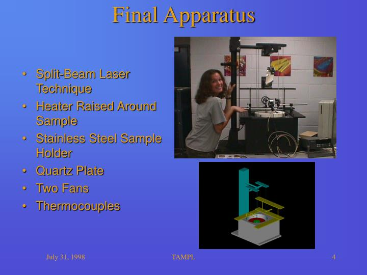 Final Apparatus