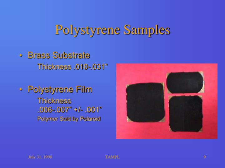 Polystyrene Samples