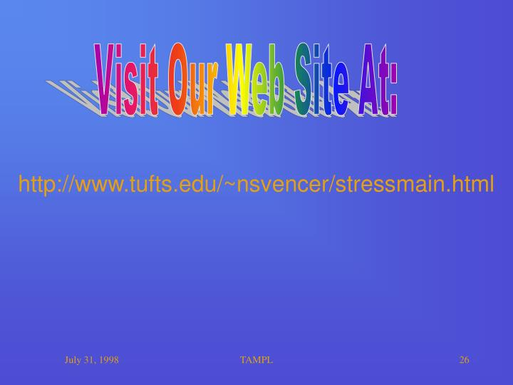 Visit Our Web Site At:
