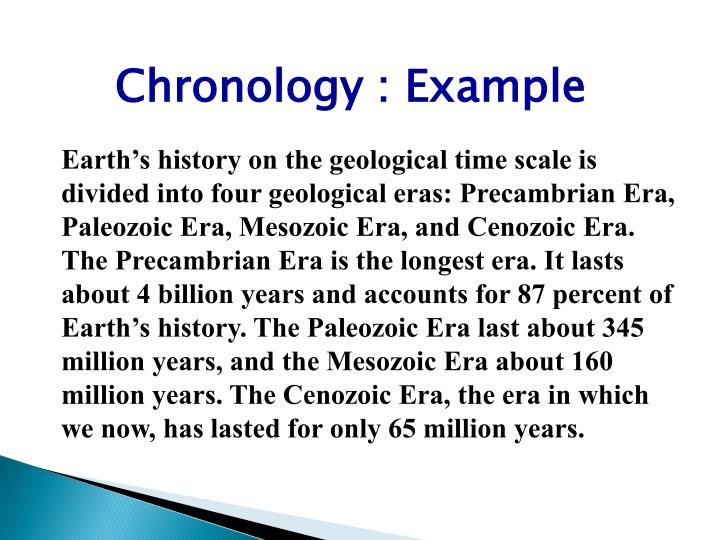 Chronology : Example