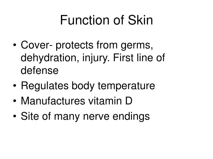 Function of Skin