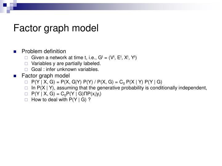 Factor graph model