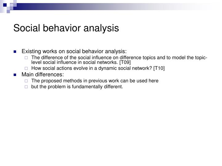 Social behavior analysis