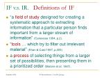 if v s ir definitions of if