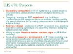lis 678 projects