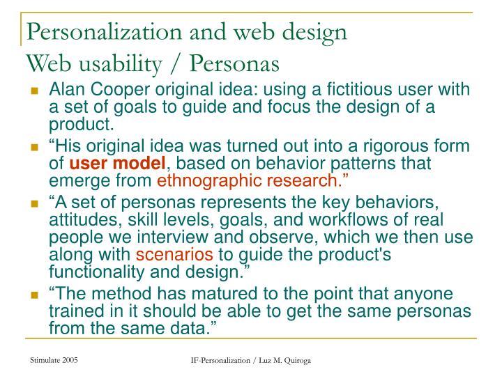 Personalization and web design