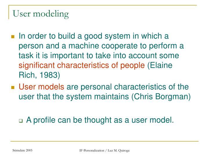 User modeling