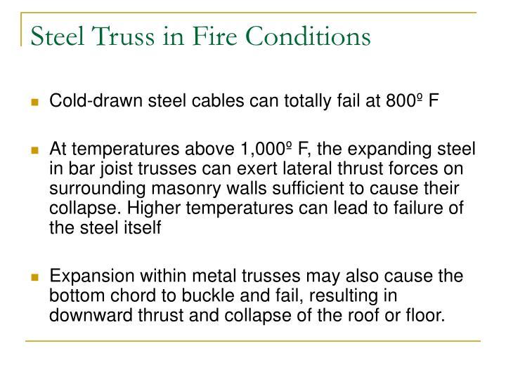 Steel Truss in Fire Conditions